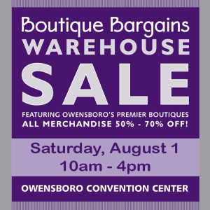Boutique Bargains Warehouse Sale @ Owensboro Convention Center | Owensboro | Kentucky | United States