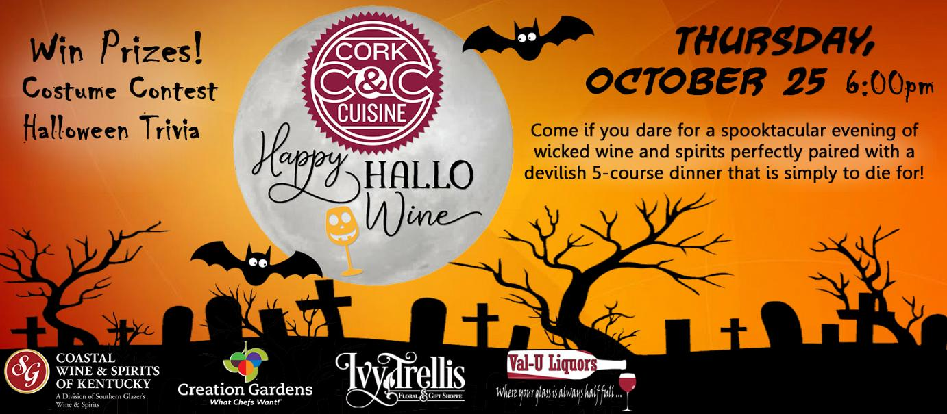 Cork and Cuisine HalloWine 2018