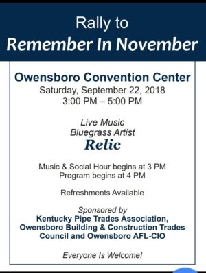 Rally to Remember in November