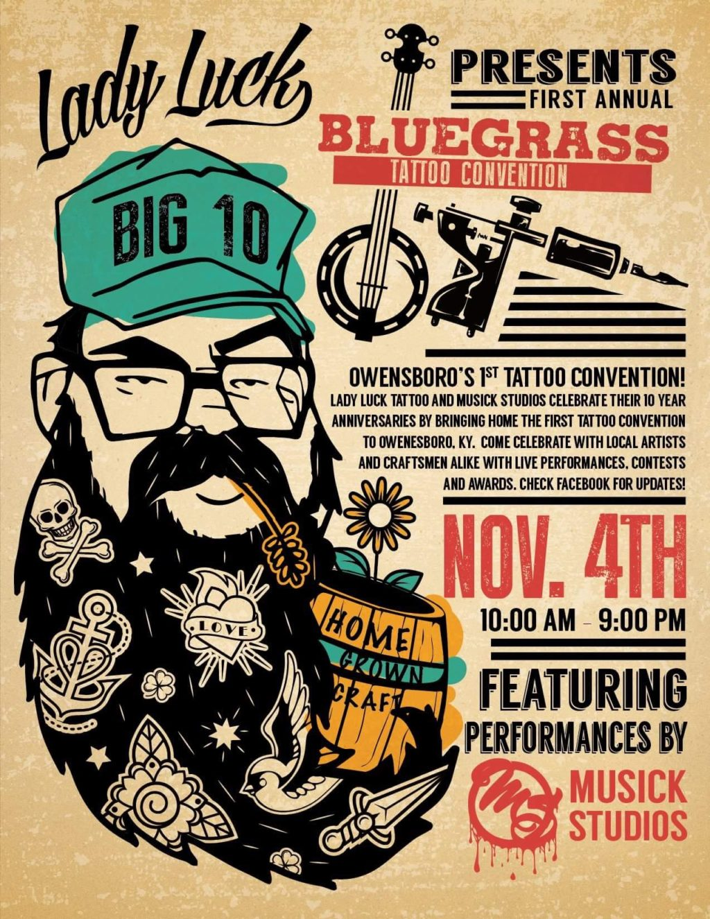 Bluegrass Tattoo Convention presented by Lady Luck Tattoo Studio and Musick Studio