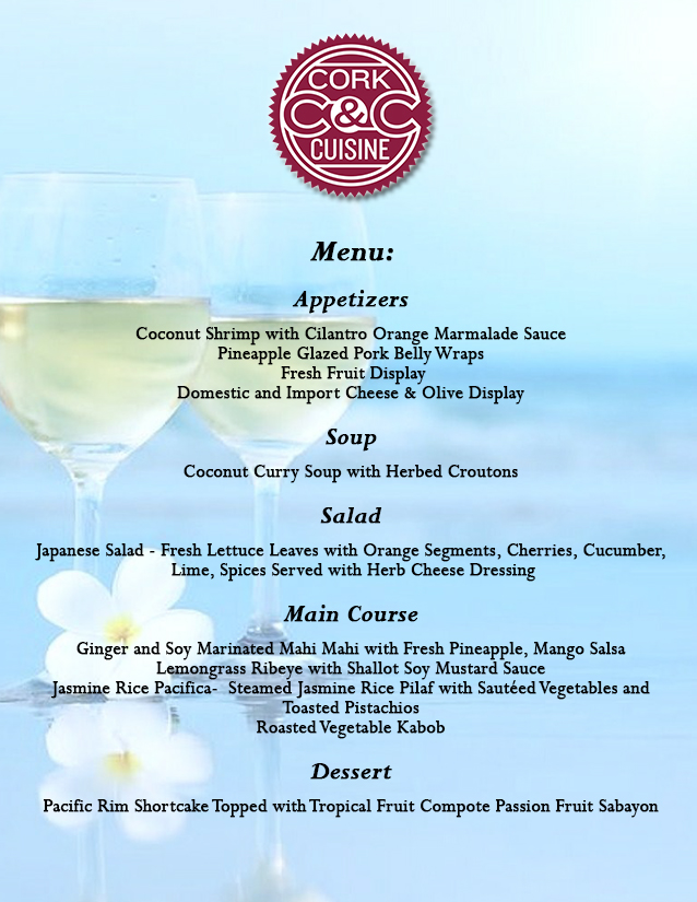 Menu for website_Cork & Cuisine_Pacific