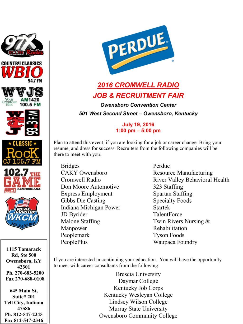 Perdue Farms Job  Recruitment Fair Recruiters  (rev0714161252)