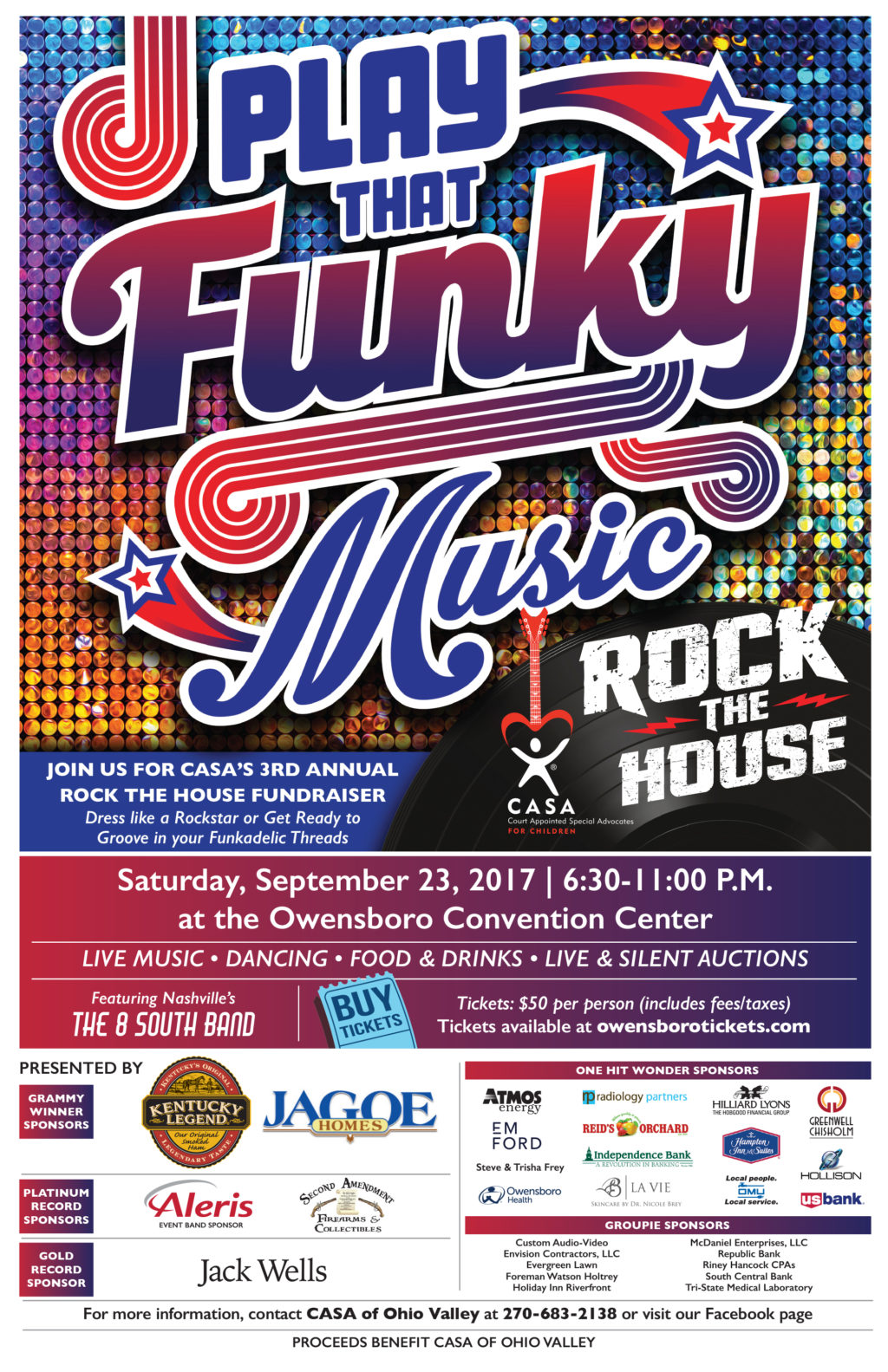 CASA Rock The House - Play that Funky Music @ Owensboro Convention Center | Owensboro | Kentucky | United States