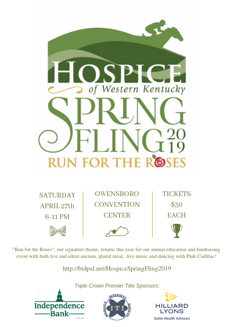"""Hospice of Western KY 2019 Spring Fling - """"Run For The Roses"""""""