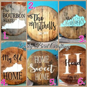 CANCELLED Bourbon Barrel Lid Sip & Paint by Early Bird Crafting