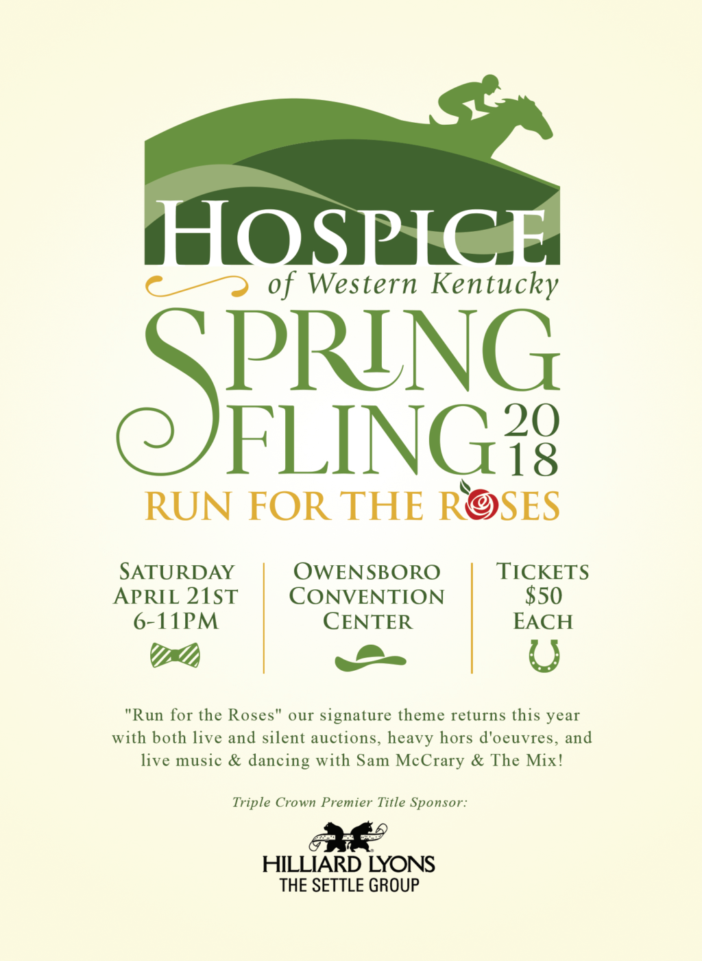 """Hospice of Western 2018 Spring Fling - """"Run For The Roses"""""""