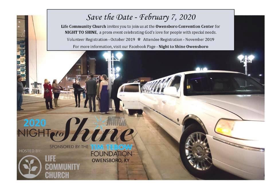Night to Shine 2020 - Owensboro hosted by Life Community Church @ Owensboro Convention Center | Owensboro | Kentucky | United States