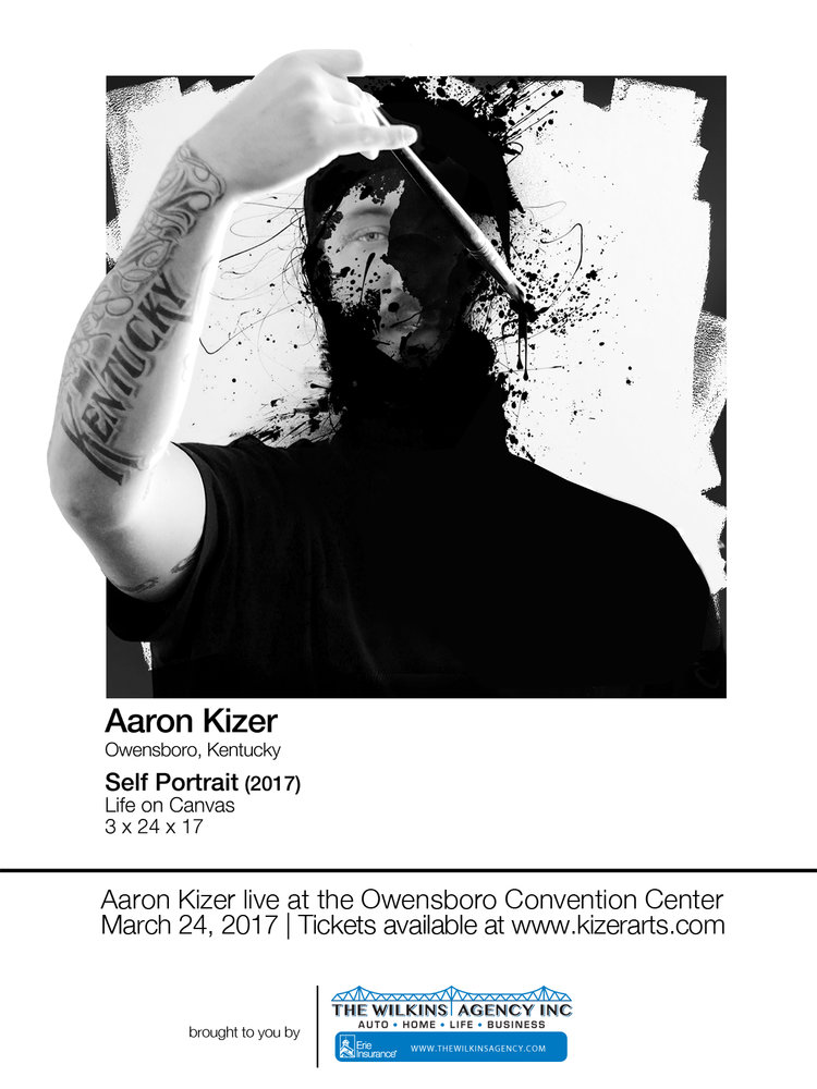 Aaron Kizer - Self Portrait - Live Painting Event