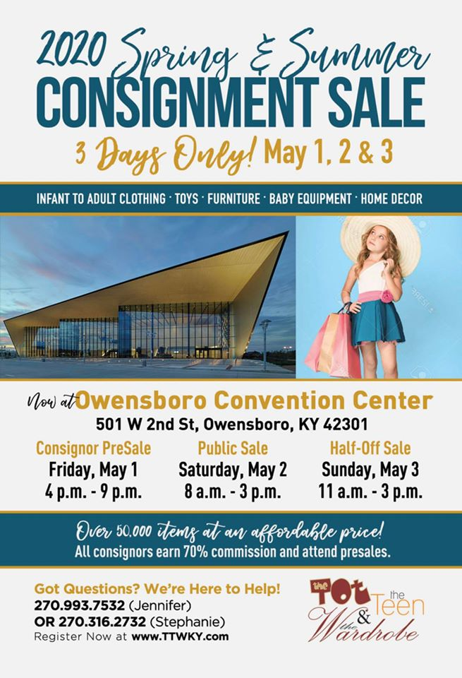 CANCELLED The Tot, the Teen, and the Wardrobe Children's and Home Consignment Sale