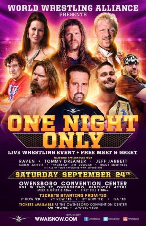 wwa one night only